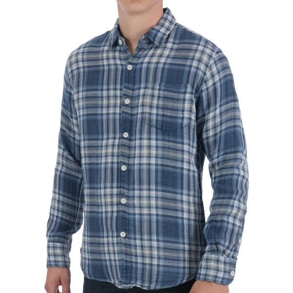 Martin Gordon Loosely Woven Cotton Sport Shirt - Long Sleeve (For Men)