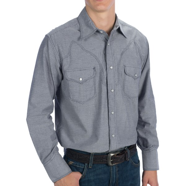 Panhandle Slim 90 Proof Dobby Embroidered Shirt - Snap Front, Long Sleeve (For Men)