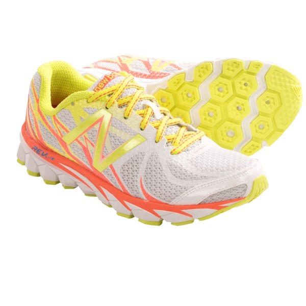 CLOSEOUTS . A lightweight, breathable design with a FantomFit mesh upper, New Balance 3190 running shoes provide the resilient bounce of REVlite midsole foam and are perfect for long training runs and race day. Available Colors: WHITE/ORANGE/YELLOW, YELLOW/PINK. Sizes: 6, 6.5, 7, 7.5, 8, 8.5, 9, 9.5, 10, 11, 12.