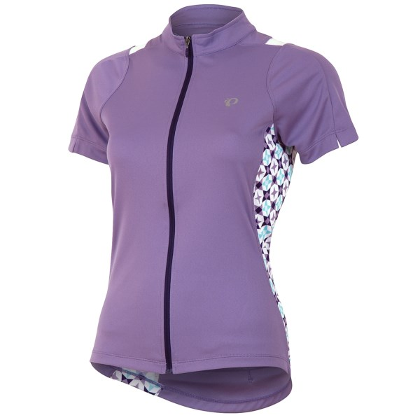 CLOSEOUTS . Pearl Izumiand#39;s SELECT Print cycling jersey offers soft, stretchy comfort with SELECT Transfer fabric, a full-length zipper and stylish printed side panels. Available Colors: BLACK/WHITE, PURPLE HAZE. Sizes: XS, S, M, L, XL, 2XL.