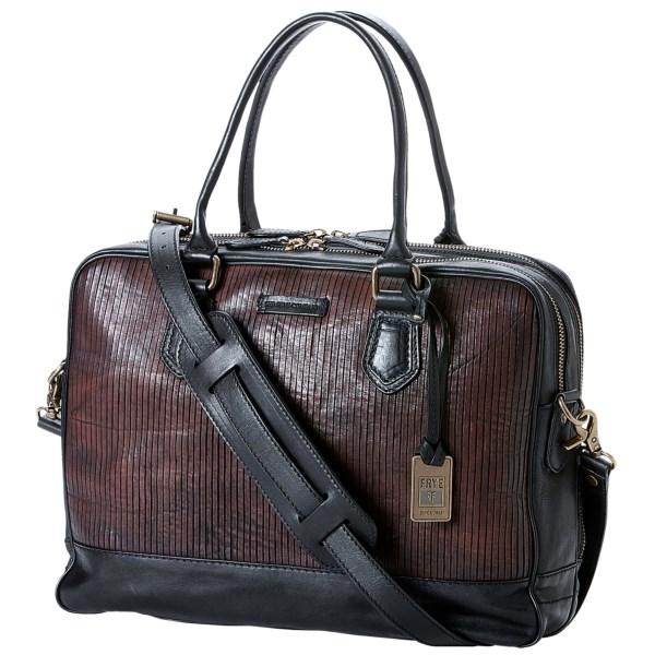 Frye James Zip Work Bag - Italian Leather (For Men)