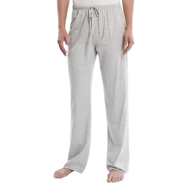 CLOSEOUTS . Lounging is an art form when conducted in the right clothing -- for example, St. Eveand#39;s lounge pants, exceptionally comfortable in lightweight stretch jersey. Available Colors: HEATHER GREY, BLACK. Sizes: S, M, L, XL.