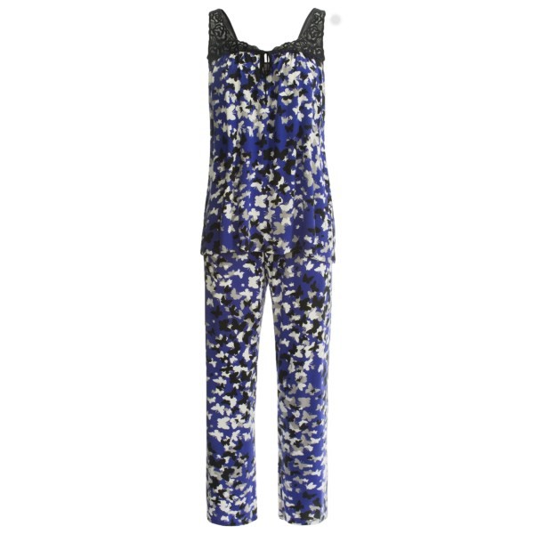 Midnight by Carole Hochman Butterfly Kisses Pajamas - Sleeveless (For Women)