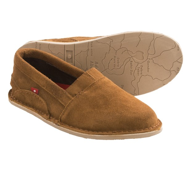 CLOSEOUTS . A socially conscious shoe with a casually sophisticated vibe, Oliberteand#39;s Sogal slip-on shoes keep your head on straight and your feet feeling great. Available Colors: MOCHA SUEDE, SAND SUEDE, RUSTIC BROWN. Sizes: 7, 8, 9, 10, 11, 12, 13.