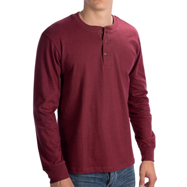 CLOSEOUTS . A casual favorite in soft, fine-knit cotton, North Pointand#39;s henley shirt is a wardrobe staple for everything from khakis to jeans to flannel pajama bottoms. Available Colors: NAVY, BLACK, HEATHER GREY, BURGUNDY. Sizes: M, L, XL, 2XL.
