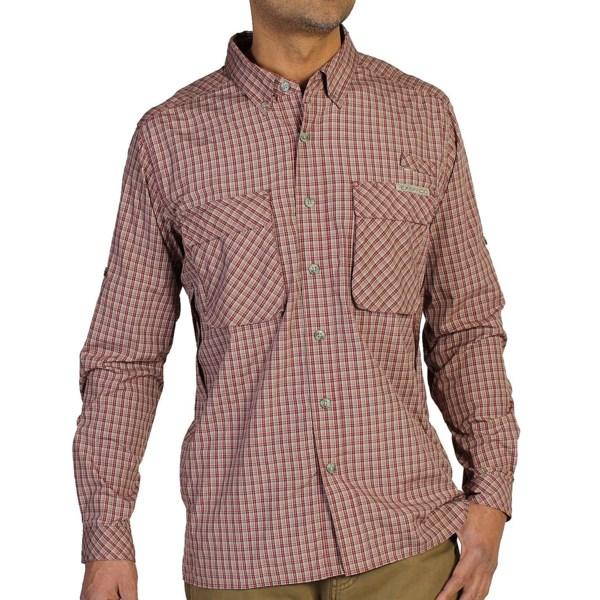 Exofficio Air Strip Micro Plaid Shirt - Upf 30 , Long Sleeve (for Men)