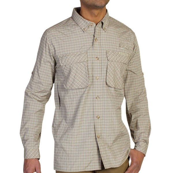 Exofficio Air Strip Micro Plaid Shirt - Upf 30 , Long Sleeve (for Men)