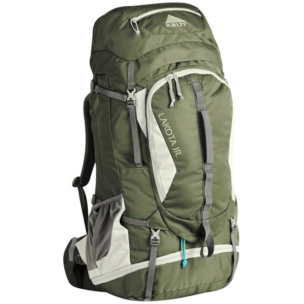CLOSEOUTS . A full-featured pack for young backpackers, Keltyand#39;s Lakota 45L Junior backpack offers storage and comfort for the long haul, with a padded, mesh-lined Dynamic AirFlow back panel, gear lash points, a front organizer panel pocket and a bottom zip sleeping bag compartment. Available Colors: FOREST GREEN.