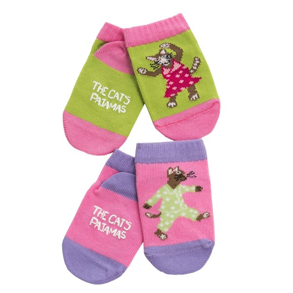 Wild And Cozy By Hatley Cats Pajamas Socks - 2-pack (for Infants)