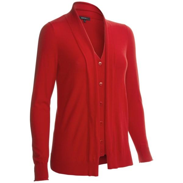 Lafayette 148 New York Layered Crepe Cardigan Sweater (for Women)