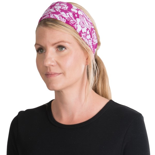 CLOSEOUTS . Add a little flair to any outfit and keep your hair out of your face with ExOfficioand#39;s Next-to-Nothing headband. Made of wrinkle-resistant, moisture-wicking and quick-drying poly-blend material, this tiered hair accessory has a comfy elastic inset. Available Colors: BLACK, DAZZLE, ATMOSPHERE. Sizes: O/S.