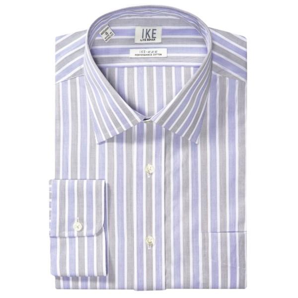 IKE by Ike Behar Stripe Dress Shirt - IKE-eze Performance No Iron Cotton, Long Sleeve (For Men)