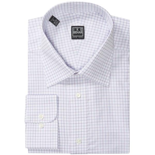 Ike Behar Black Label Check Dress Shirt - Long Sleeve (For Big and Tall Men)