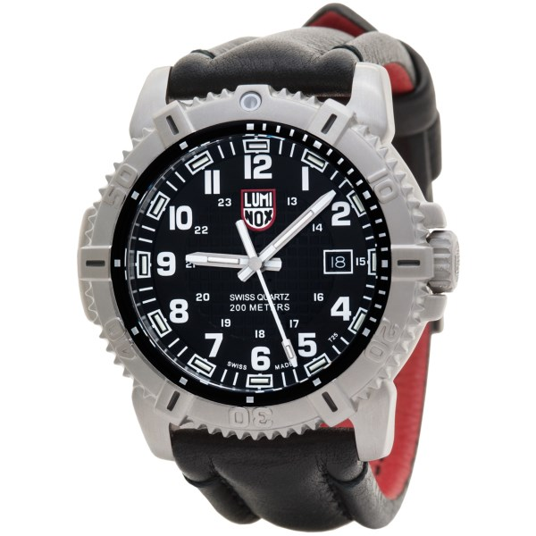 Luminox Modern Mariner Blackout Watch - Leather Strap (For Men)