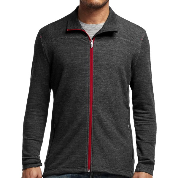 Discontinued . Comfortable on cold weather runs and equally at home catching a cab on a cool afternoon, Icebreakerand#39;s Transit jacket has a slim silhouette, a touch of stretch and the odor-regulating, antimicrobial performance of merino wool. Available Colors: CARGO/CACTUS, BLACK/AEGEAN, JET HEATHER/ROCKET. Sizes: S, M, L, XL, 2XL.