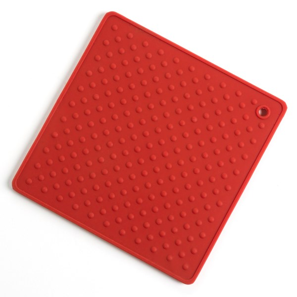 CLOSEOUTS . The non-slip grip texture of the Martha Stewart Collection Trivet not only handles hot pots but can help with those hard-to-open jars. Made of flexible, heat-resistant and nonstick silicone (also dishwasher safe), youand#39;ll wonder how you ever did without this handy kitchen helper! Available Colors: RED.
