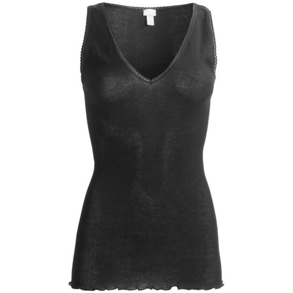 Zimmerli Mercerized Twist Cotton Tank Top (For Women)