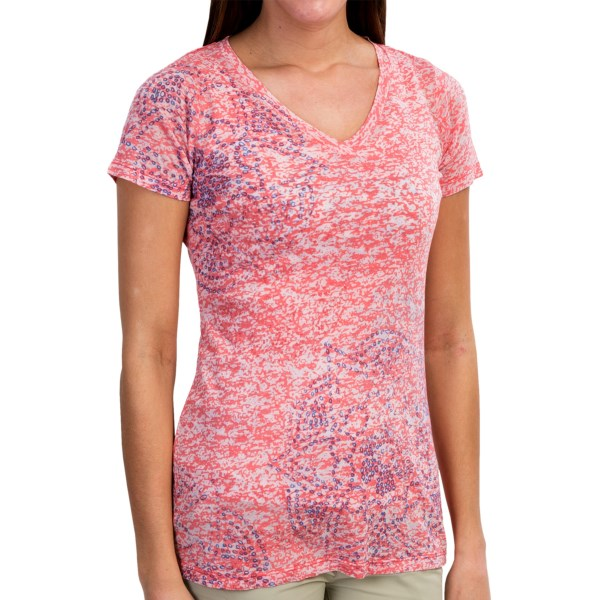 CLOSEOUTS . Layer it over a tank or cozy thermal! Either way, Aventura Clothingand#39;s Auburn shirt brings a soft touch of dimensional style to your look, thanks to a fluttery burnout fabric and subtle two-tone floral print. Available Colors: WHITE, SILVER SCONCE, SPICED CORAL. Sizes: XS, S, M, L, XL, 2XL.