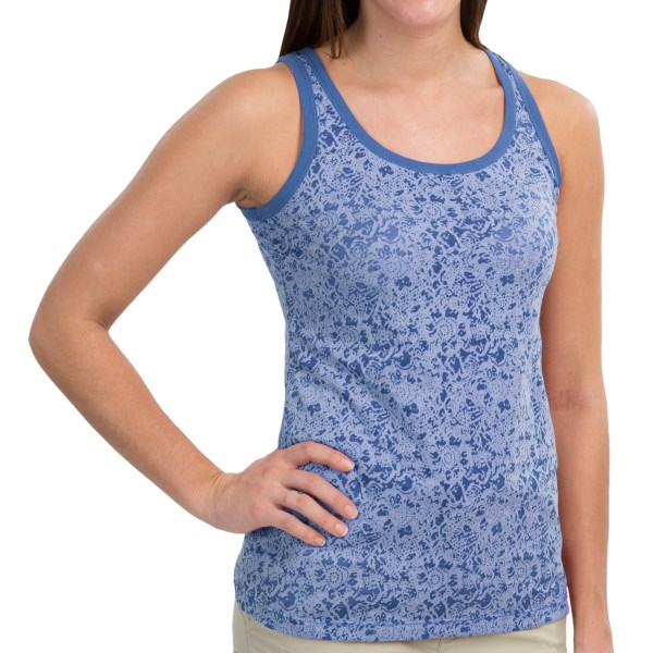 CLOSEOUTS . Itand#39;s all about the burnout, baby! Aventura Clothingand#39;s Kendra tank top is a cute, flirty little favorite with a simple cut and a pretty floral burnout that looks great alone or layered. Available Colors: MEADOW MAUVE, TURKISH SEA, BRIGHT AQUA, CHAMOMILE. Sizes: XS, S, M, L, XL, 2XL.