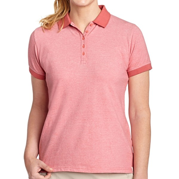 CLOSEOUTS . With a narrow button placket, two-tone pique stretch-cotton fabric, and solid-color rib-knit collar and cuffs, Woolrichand#39;s Port Pique polo shirt goes above and beyond the classic polo style youand#39;re used to seeing. Available Colors: CACTUS FLOWER, DEEP INDIGO, LOBSTER, SEASALT, TURQUOISE. Sizes: S, M, L, XL.