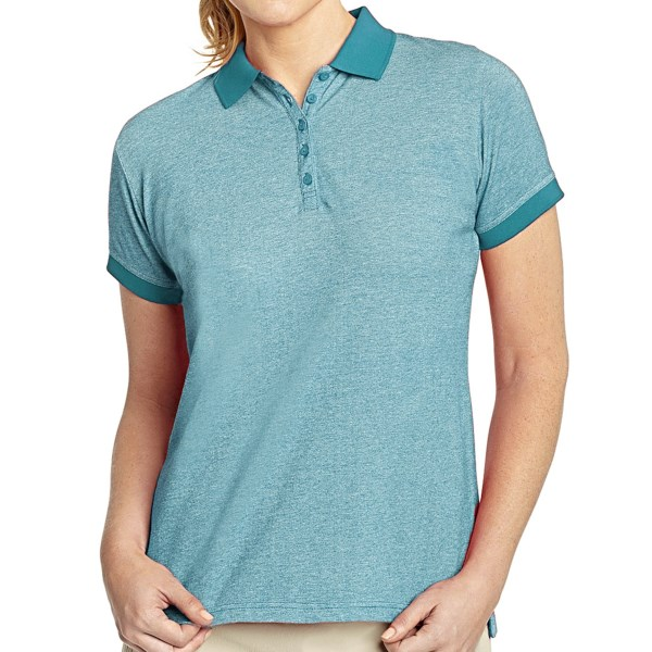Woolrich Port Pique Polo Shirt - Stretch Cotton Pique, Short Sleeve (For Women)