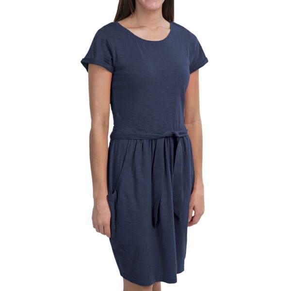 Woolrich Lakeside Knit Dress - Cotton Jersey, Short Sleeve (For Women)