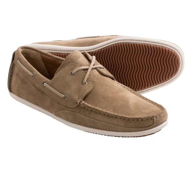 CLOSEOUTS . Flexible, supple suede lends a soft touch to Sebagoand#39;s Canton boat shoes, a low-profile, casual version of the classic silhouette, complete with raw leather lacing and a stitched moc toe. Available Colors: TAUPE SUEDE. Sizes: 7, 7.5, 8, 8.5, 9, 9.5, 10, 10.5, 11, 11.5, 12, 13.