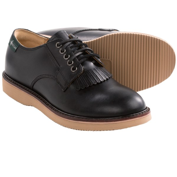 CLOSEOUTS . Eastlandand#39;s Franklin 1955 Edition shoes brings updated construction to a throwback style, with full-grain leather upper, a flexible Vibramand#174; outsole and a removable kiltie. Available Colors: BLACK. Sizes: 8, 8.5, 9, 9.5, 10, 10.5, 11, 11.5, 12, 13.