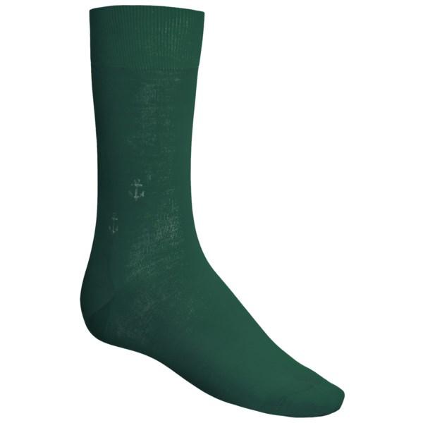 Punto Anchor Print Socks - Mercerized Cotton-Nylon, Over-the-Calf (For Men)