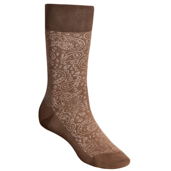 CLOSEOUTS . Puntoand#39;s paisley socks deliver contemporary style and lightweight comfort with every step. The lustrous Egyptian cotton blend features a subtle pattern that lends a touch of refinement to your everyday dress wardrobe. Available Colors: NAVY, BLACK, LIGHT BROWN, TURQUOISE, LIGHT GREEN, FUSCHIA. Sizes: O/S.