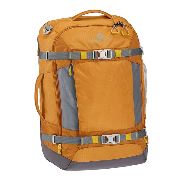 CLOSEOUTS . Eagle Creekand#39;s Digi Hauler backpack delivers lightweight construction with multiple carrying options. A padded compartment holds a 15andquot; laptop, and tuck-away shoulder straps and multiple handles let you carry it as a backpack or a duffel. Available Colors: BLACK, OCHRE, SLATE BLUE.