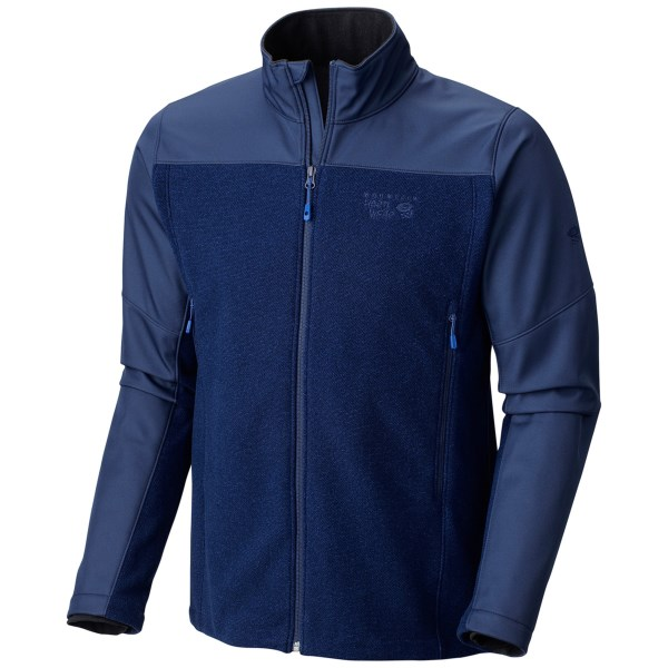 CLOSEOUTS . Mountain Hardwearand#39;s Toasty Tweed fleece jacket is the perfect combination of ruggedness and sophistication. Itand#39;s made of moisture-wicking, quick-drying polyester fleece that has a classy textured finish that looks good -- real good. And, to keep you protected from the elements, the AirShield fabric on the shoulders and upper arms help with wind- and water-resistance, while also providing abrasion resistance.        Available Colors: DARK ADOBE, BLACK, COLLEGIATE NAVY, GREENSCAPE. Sizes: M, L, XL, 2XL.
