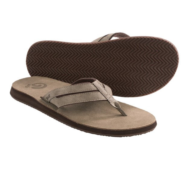 Teva Eddy Flip-Flop Sandals - Leather (For Men)