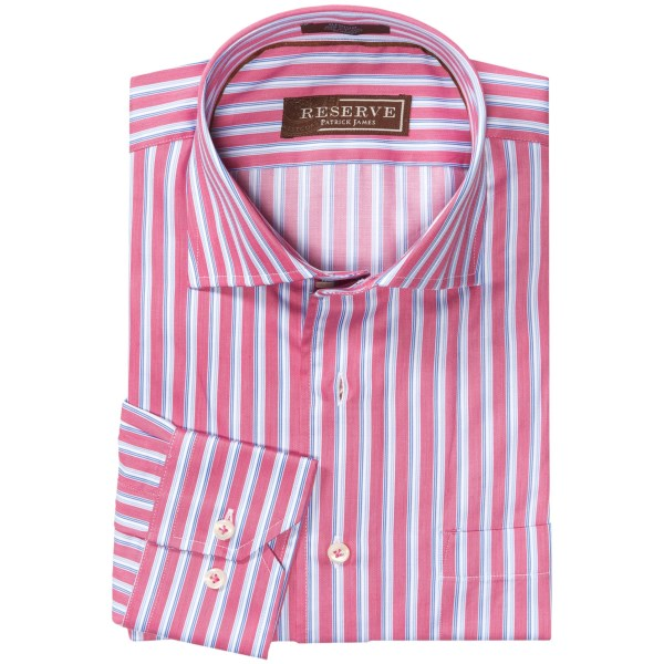 Patrick James Reserve Striped Shirt - French Front, Long Sleeve (for Men)