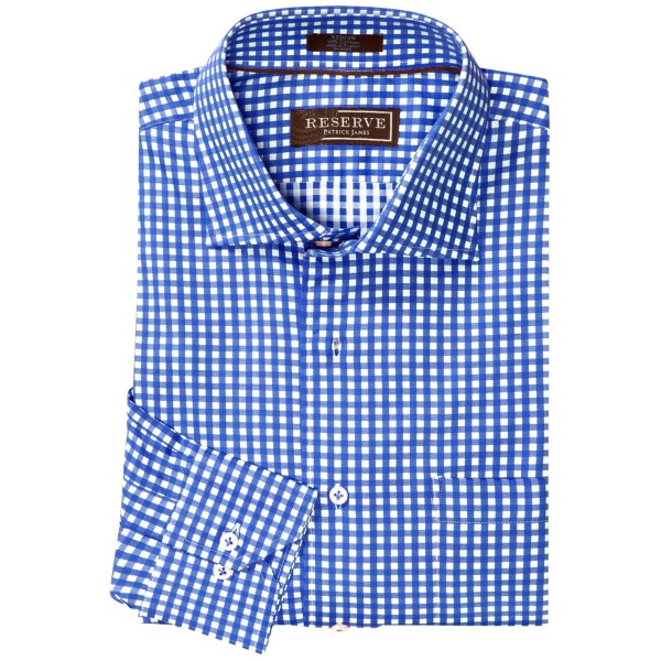 Patrick James Reserve Check Shirt - French Front, Long Sleeve (For Men)