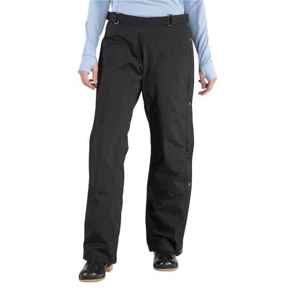 CLOSEOUTS . Enhance your comfort level in the rain with Carharttand#39;s Cascade pants. These Dura Dryand#174; waterproof breathable pants are easy to put on and take off thanks to full-length leg zippers on both sides. Available Colors: BLACK. Sizes: XS, S, M, L, XL.