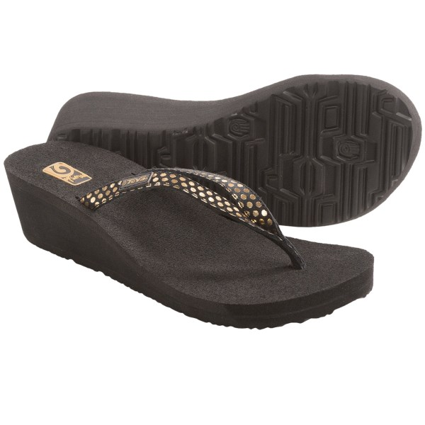 Teva Ribbon Mush(R) Paparazzi Wedge Sandals - Leather (For Women)