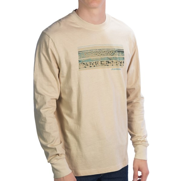Sage Riparian Strata T-Shirt - Long Sleeve (For Men)