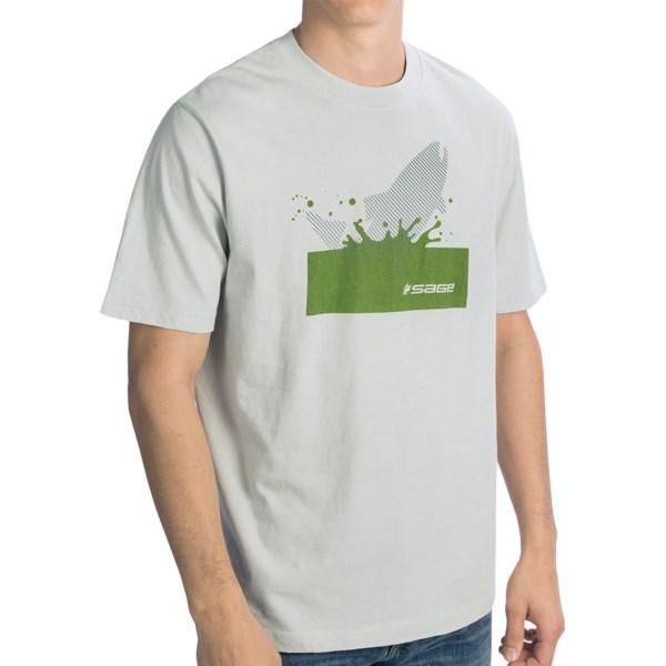 Sage Splashing Trout T-Shirt - Short Sleeve (For Men)