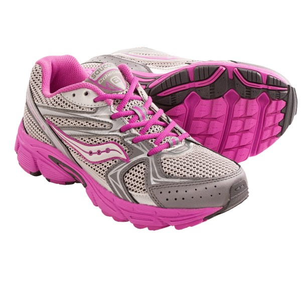 CLOSEOUTS . A ground-grabbing choice for running and athletic play, Saucony Cohesion 6 LTT running shoes have a well-padded lining and PowerGrid midsole foam for cushioning. Available Colors: GREY MULTI. Sizes: 3.5, 4, 4.5, 5, 5.5, 6, 6.5, 7.