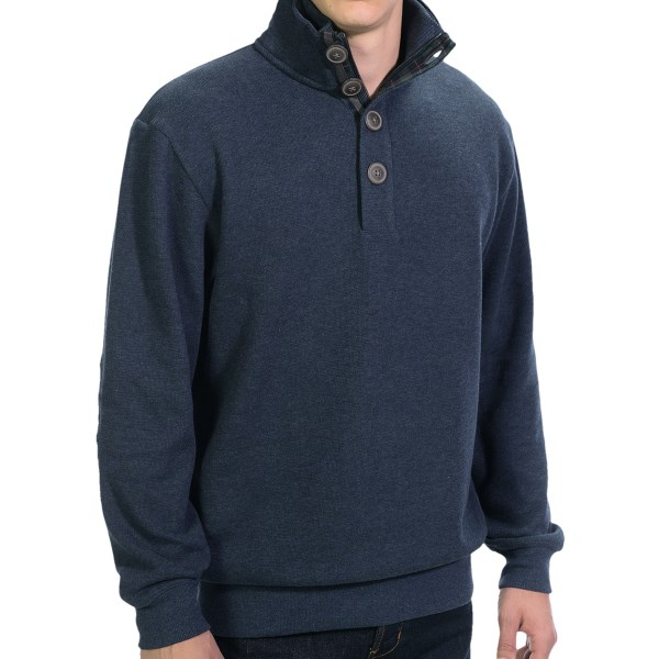 Viyella Zip Mock Neck Sweater (For Men)
