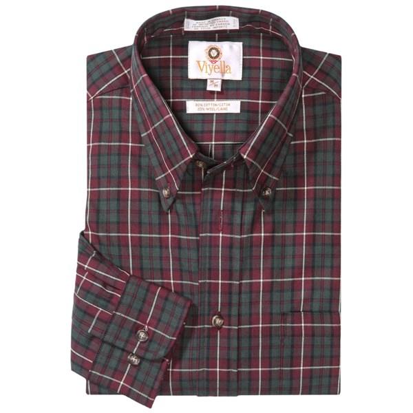 Viyella Multi-Check Sport Shirt - Cotton-Wool, Long Sleeve (For Men)