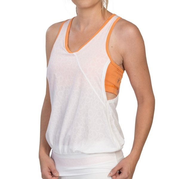 Cozy Orange Leo Yoga Tank Top (For Women)