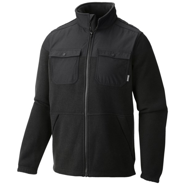 CLOSEOUTS . Combining classy twill with rugged detail, Columbia Sportswearand#39;s Terpin Point Overlay fleece jacket is the perfect andquot;go-toandquot; option for any occasion. The warm fleece lining keeps heat in, and the durable overlay can be pushed to the limits. This jacket looks great for going out or is awesome for trekking along a trail. Available Colors: BLACK HEATHER. Sizes: S, M, L, XL, 2XL.