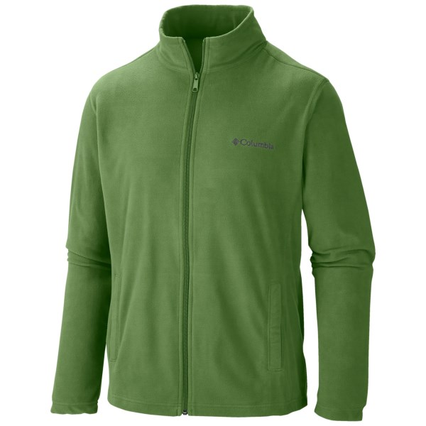 CLOSEOUTS . Columbia Sportswearand#39;s Klamath Range jacket is primed for adventure, with lightweight, Glacial microfleece thatand#39;s a toasty alternative to bulkier layers. Available Colors: DARK BACKCOUNTRY, BACKCOUNTRY ORANGE/GRAPHITE. Sizes: S, M, L, XL, 2XL.