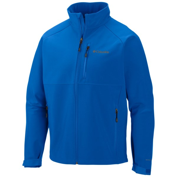 CLOSEOUTS . Columbia Sportswearand#39;s Heat Mode II soft shell jacket offers  motion-friendly, windproof protection and a fine-tuned fit. The Omni-Heatand#174; thermal reflective lining makes it warmer than your average soft shell, yet still highly breathable. Available Colors: HYPER BLUE, DARK BACKCOUNTRY. Sizes: S, M, L, XL, 2XL.