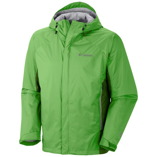 CLOSEOUTS . Zip up Columbia Sportswearand#39;s Rainstormer jacket before the deluge hits. Then keep moving comfortably in this 2.5-layer waterproof breathable workhorse with next-generation Omni-Wickand#174; EVAP technology. Available Colors: CLEAN GREEN, HYPER BLUE, SEDONA SAGE, BLACK. Sizes: S, M, L, XL, 2XL.