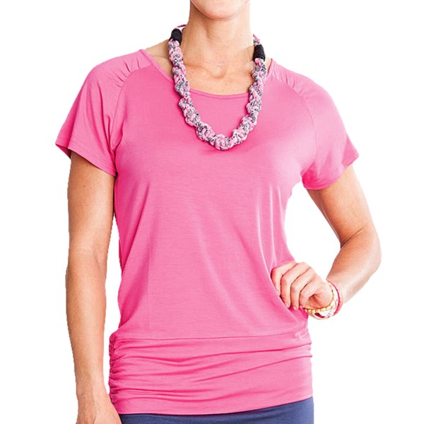 CLOSEOUTS . Not all tees are created equally; Carve Designsand#39; Kumari T-shirt expertly walks the line between comfortable and chic in smooth, soft and lightweight fabric with gathered accents at the shoulders and hem. Available Colors: WHITE, MINT, INDIGO NAUTICAL, RASPBERRY. Sizes: XS, S, M, L, XL.