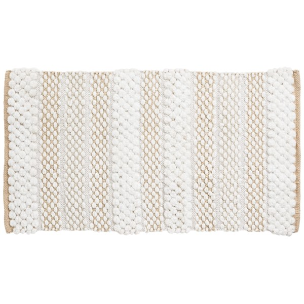 CLOSEOUTS . Your bath could use a texture infusion, and Vista Homeand#39;s Palazzo Collection bath rug is just the piece to do it! Bands of plush, fluffy microfiber ovals alternate in size across colorful, thick-woven fabric. Available Colors: SPA, GREY, SAND.