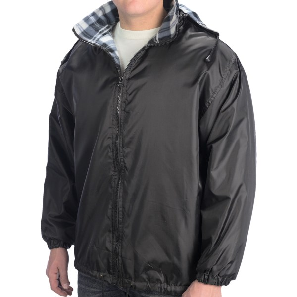 10,000 Feet Above Sea Level Polar Fleece Jacket Plaid Lined (For Men)